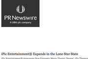 PR News Wire | iPic Expands in Lone Star State